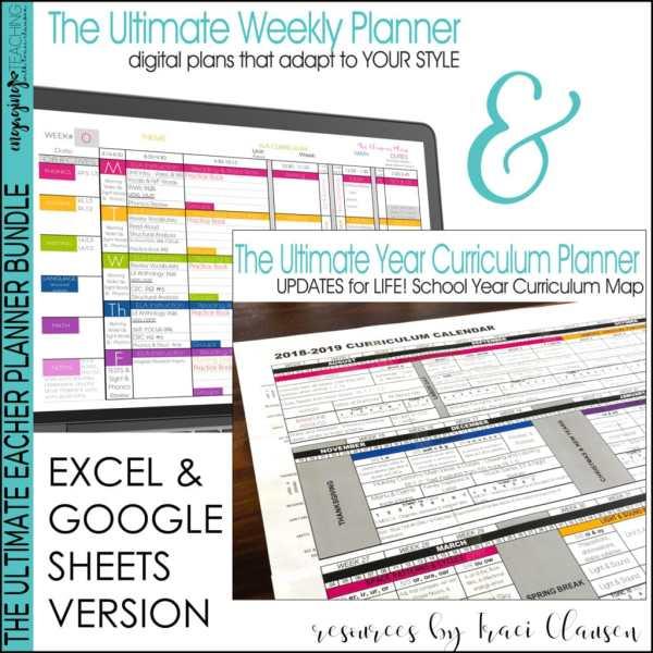 Excel & Google Sheets Weekly & Year Planner BUNDLE