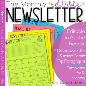 Editable Monthly Newsletter