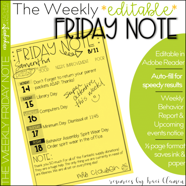Friday Note Product Cover