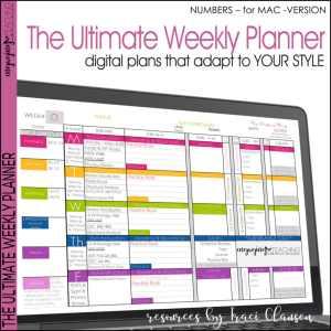 Numbers Weekly Planner