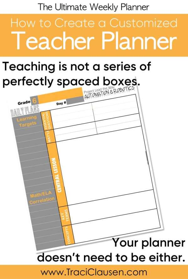 Personalized Teacher Planner