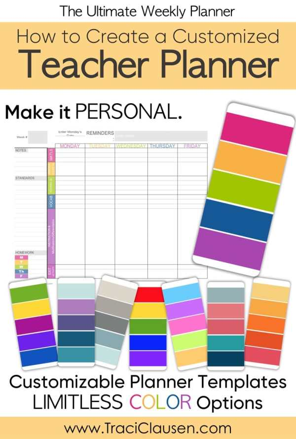 Teacher Planner Colors