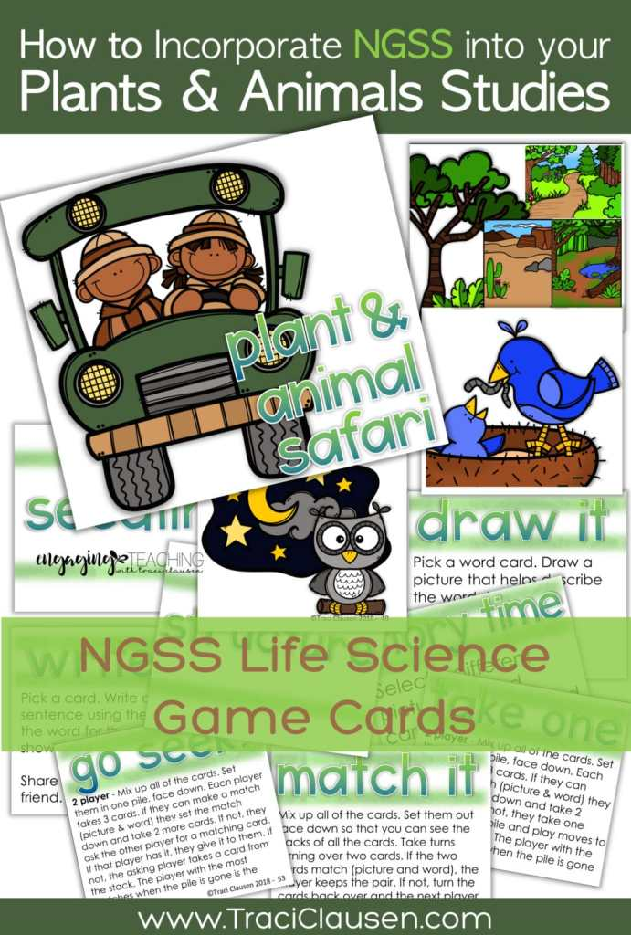 1st Grade Life Science NGSS Game Cards