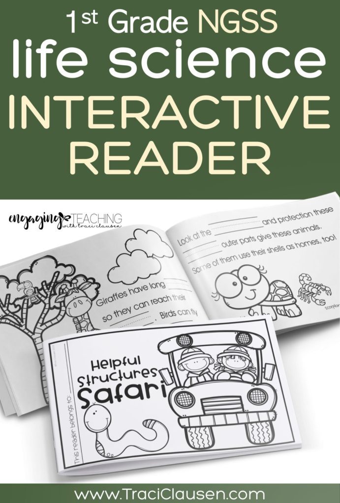 1st Grade Life Science NGSS Interactive Reader