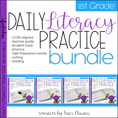 Daily Literacy Practice first grade resource cover