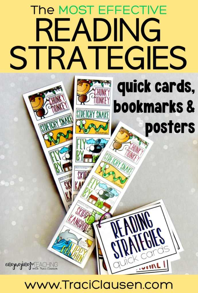 Reading Strategies bookmarks and quick cards