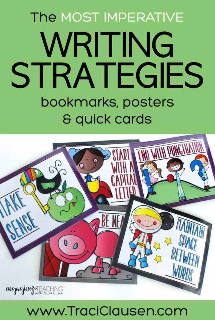 writing strategies poster