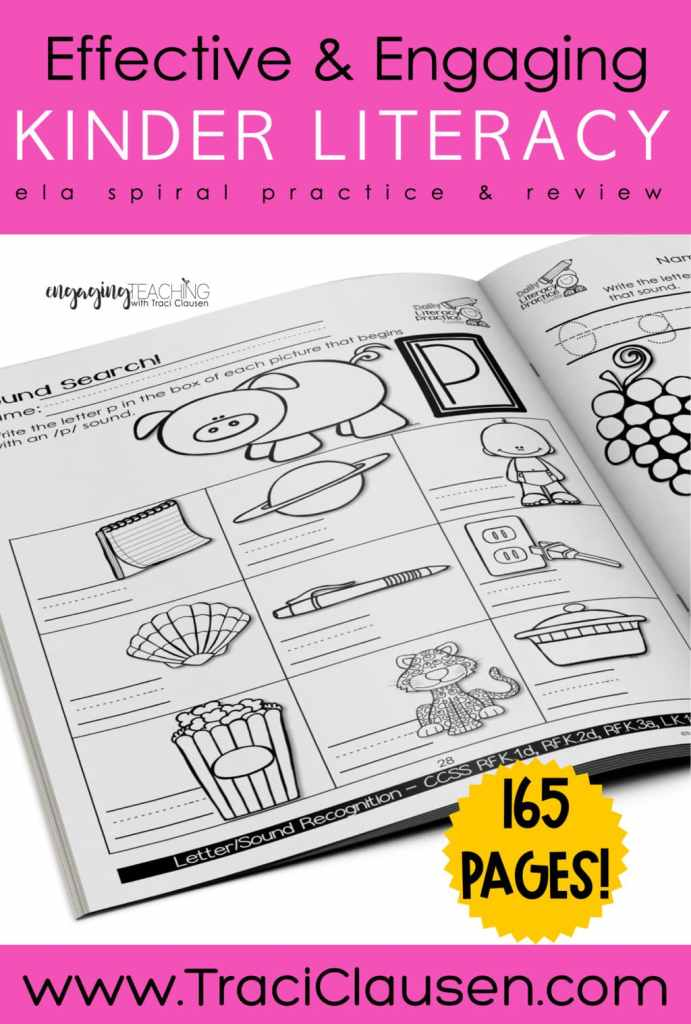 Daily Literacy Practice workbook