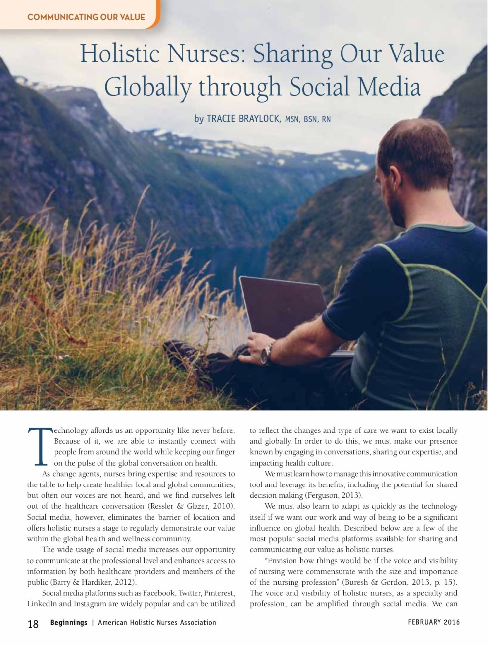 Holistic Nurses Sharing Our Value Globally through Social Media | Tracie Braylock