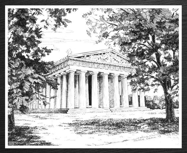 Parthenon-Framed