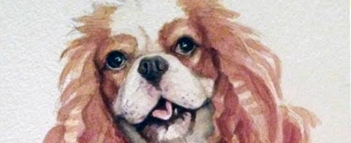 Bonnie! A Watercolor Dog Portrait