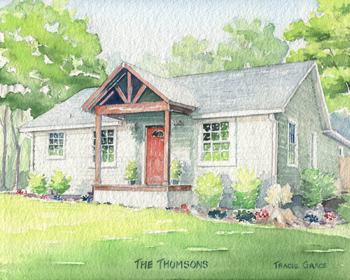 House Portrait – The Thomsons