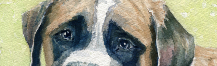 A Mother's Day Gift – Watercolor Dog Portrait Of Treasure