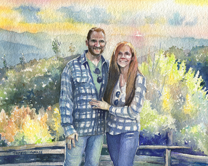 Portrait Of Nick Kollath And Tricia Moore