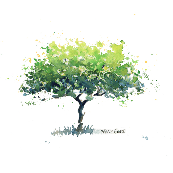 Reminder: Tree Painting Watercolor Class