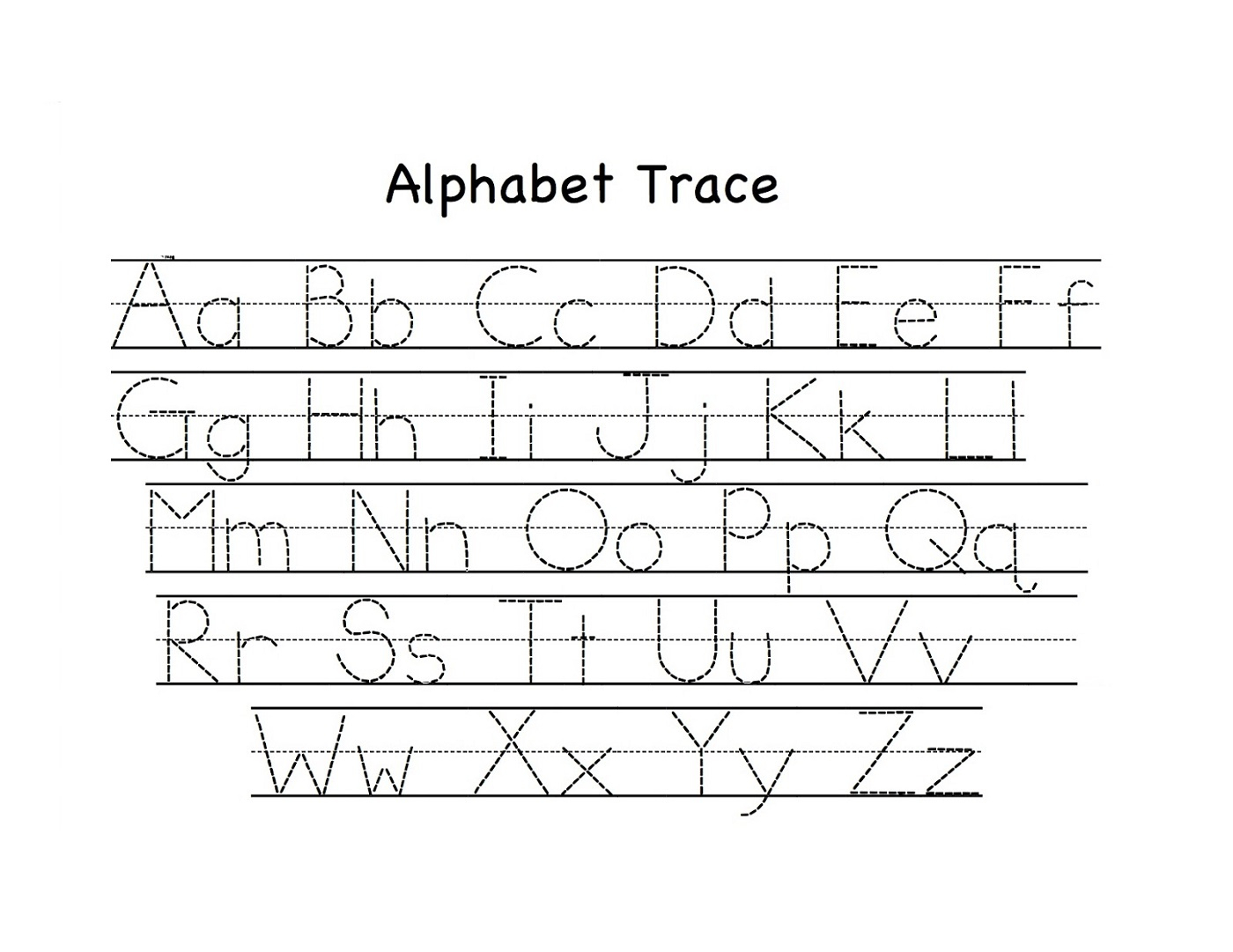 Tracing Letters Worksheets A Z