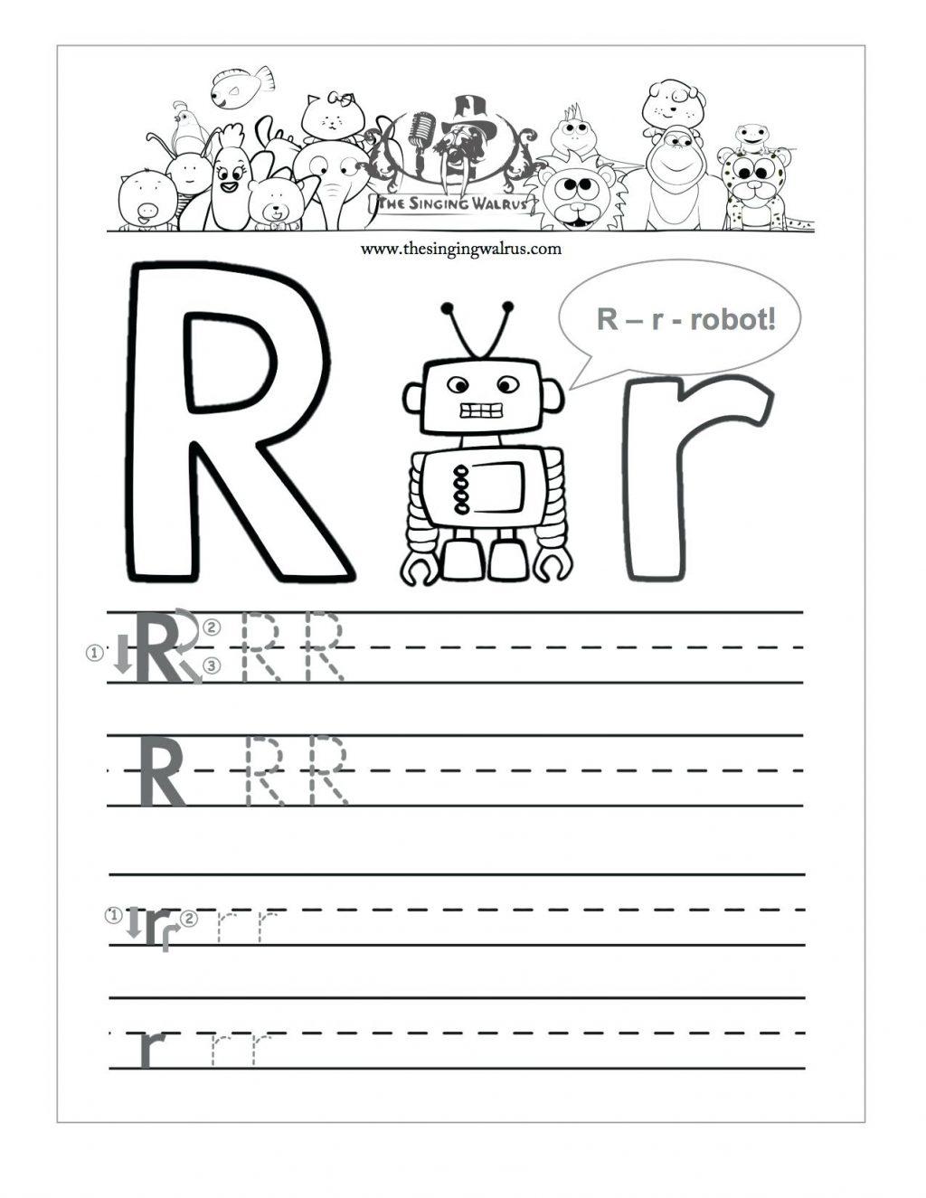 Tracing Letter R Worksheets