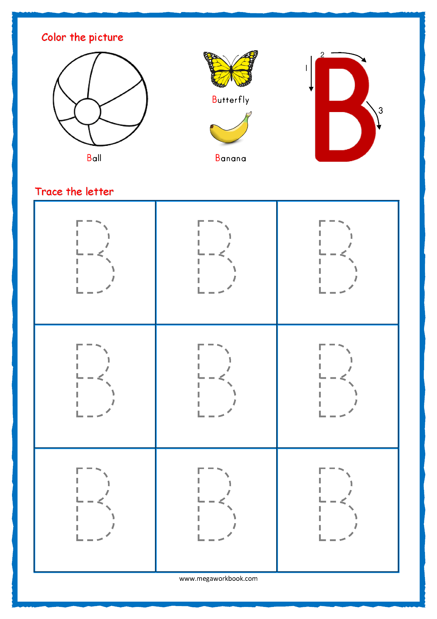 Trace Large Letter F Worksheet For Preschoolers