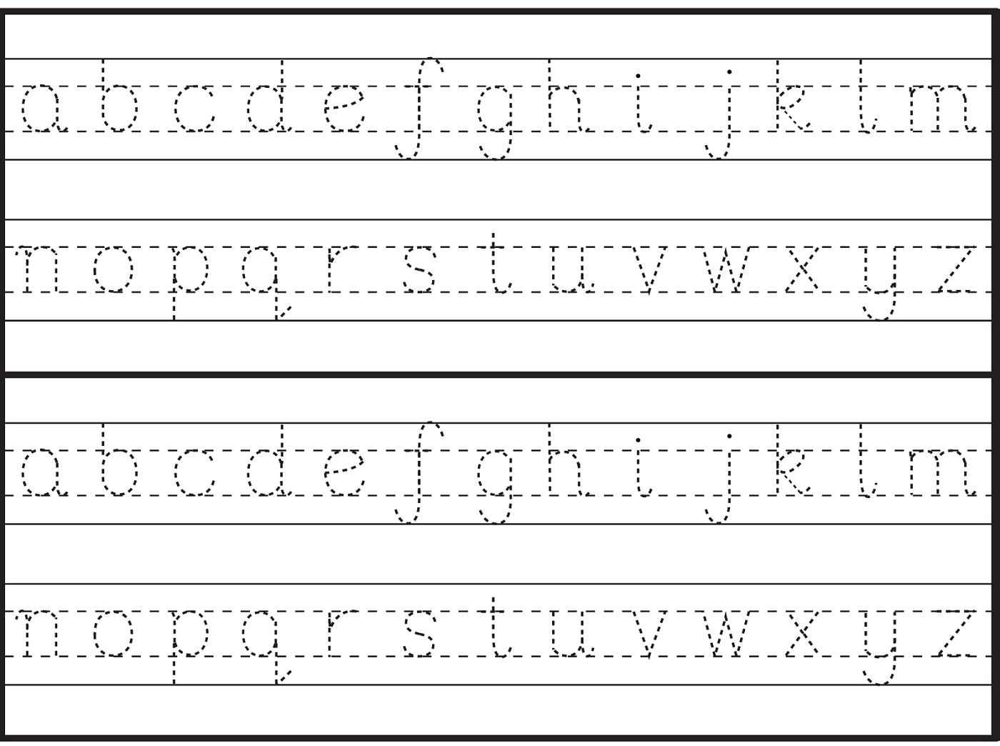 Trace Letters Worksheet For Grade 1