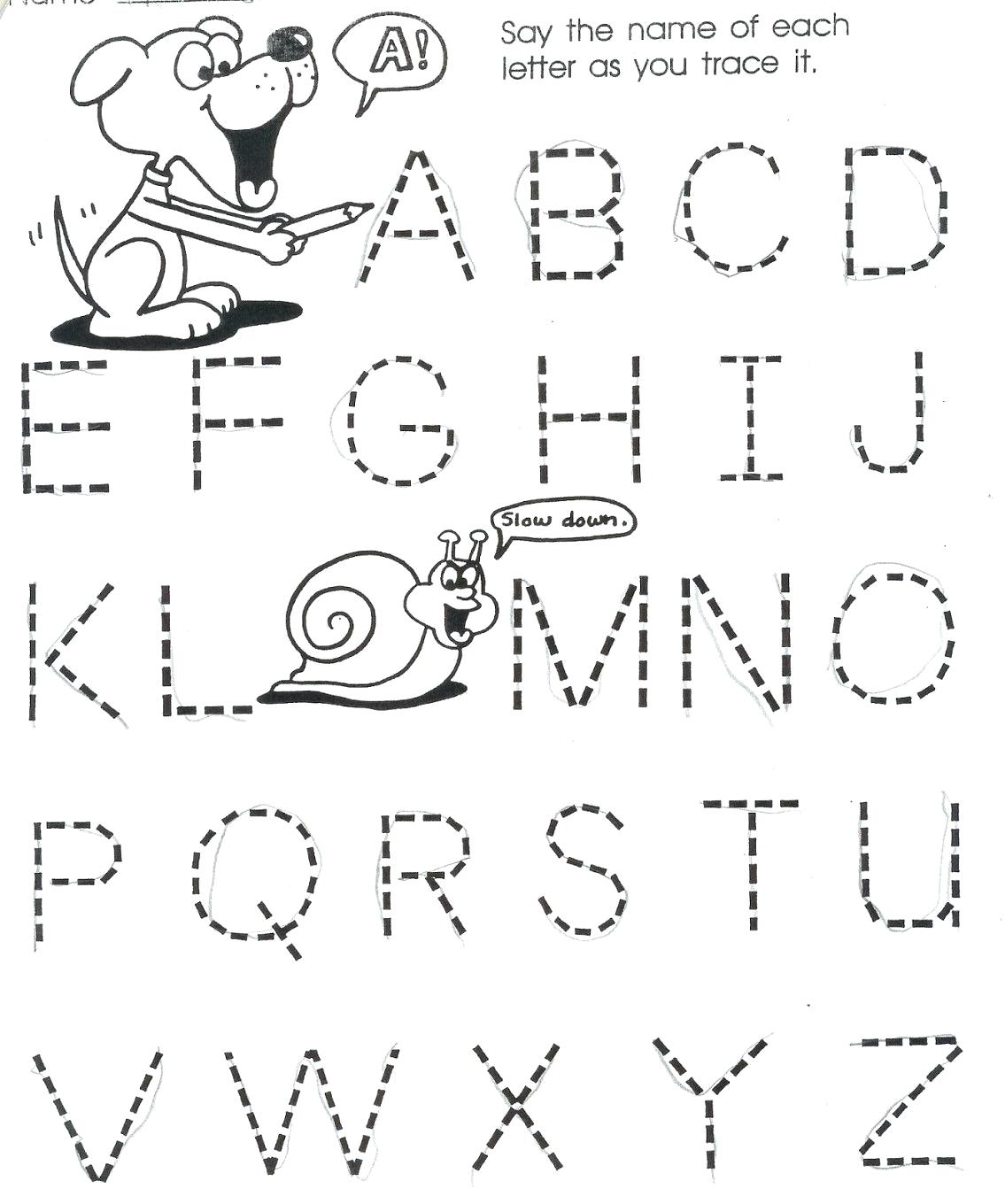 Tracing Letters Worksheets For 3 Year Olds
