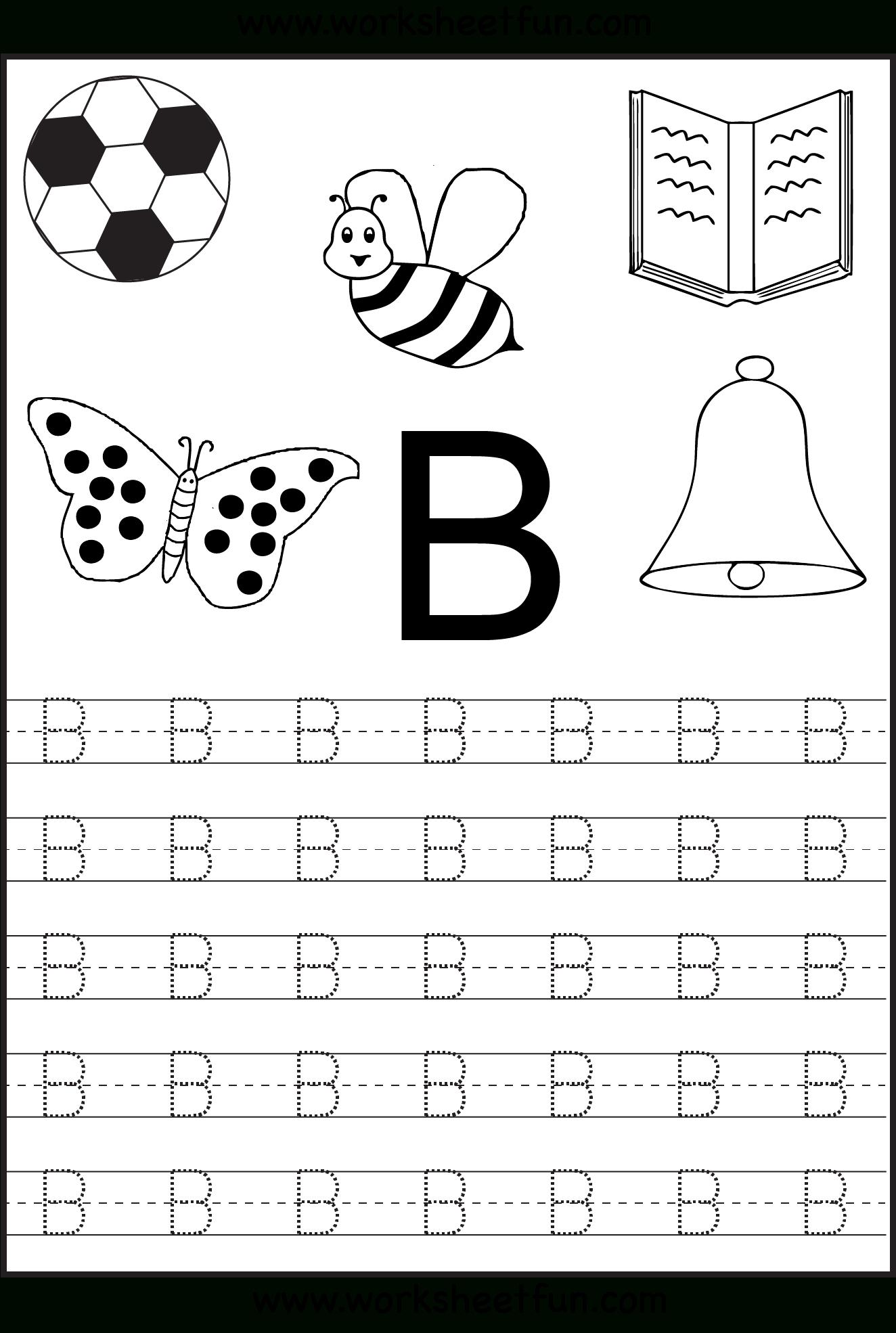 Tracing Worksheets For Kindergarten On Letters