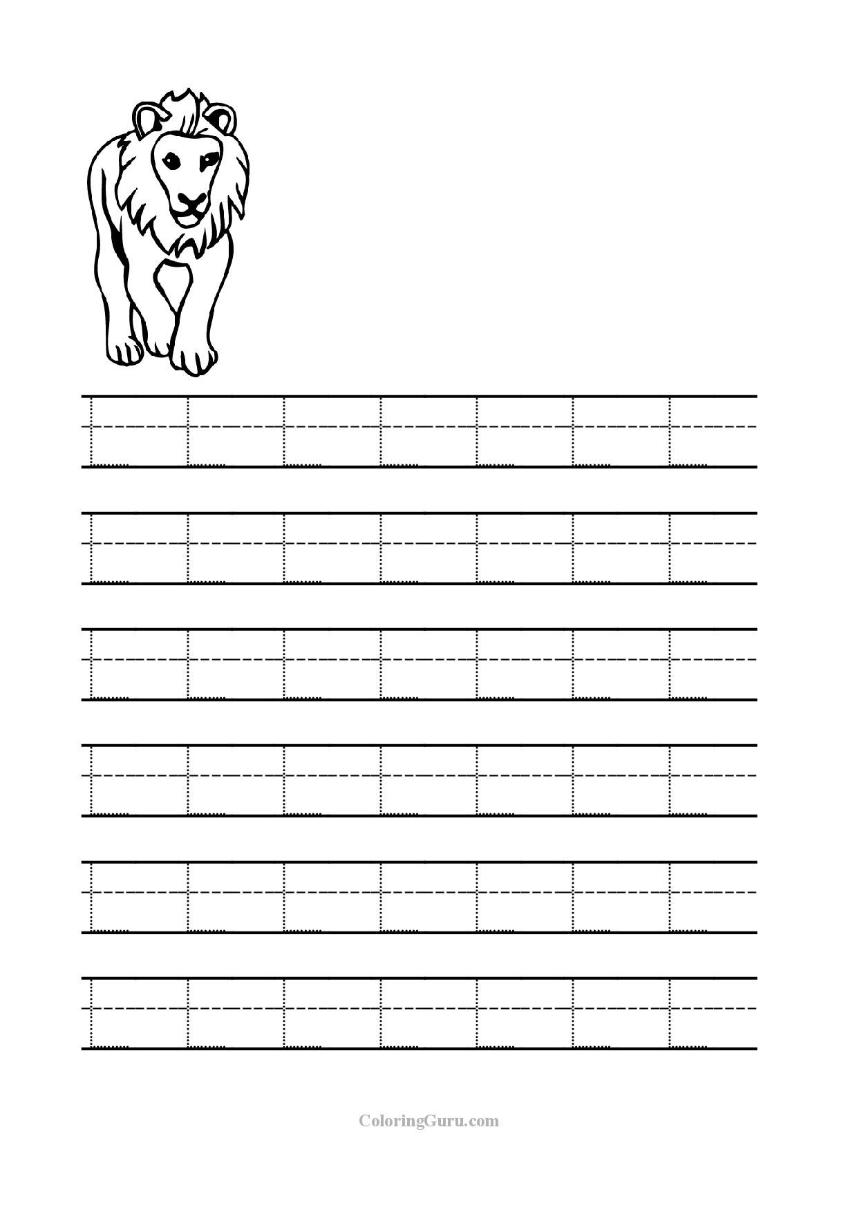Tracing Letter L Worksheets For Kindergarten