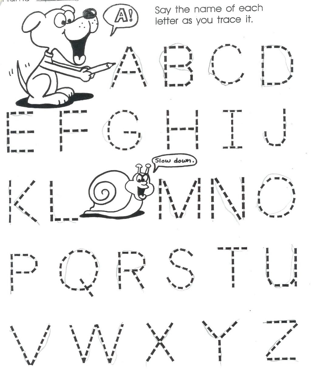 3 Year Old Tracing Letters