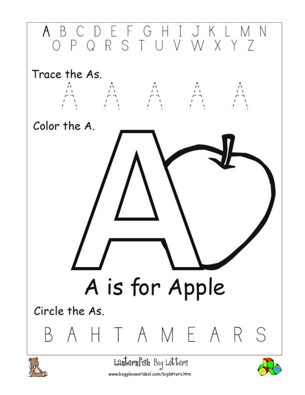 Large Tracing Letters For Preschoolers