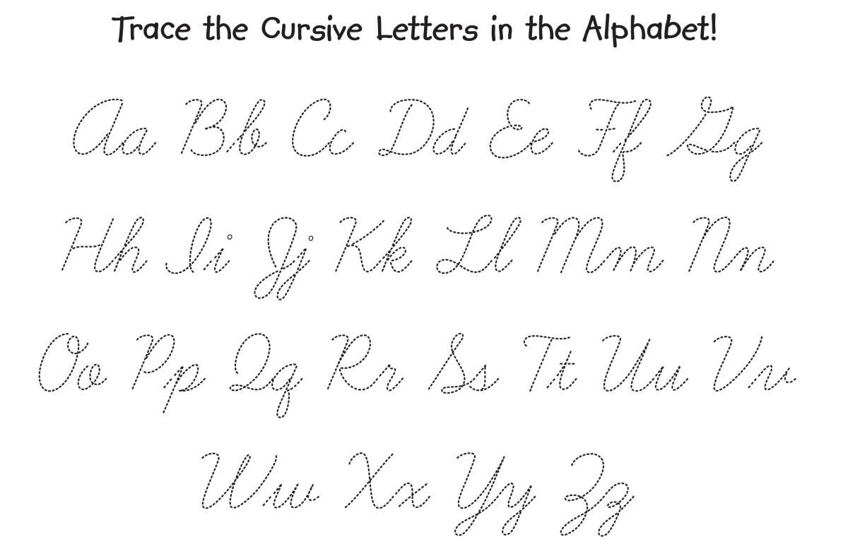 Printable Tracing Cursive Letters