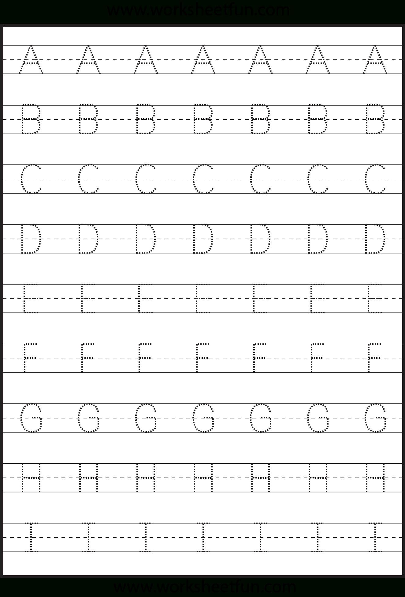 Letter Tracing Worksheets Online