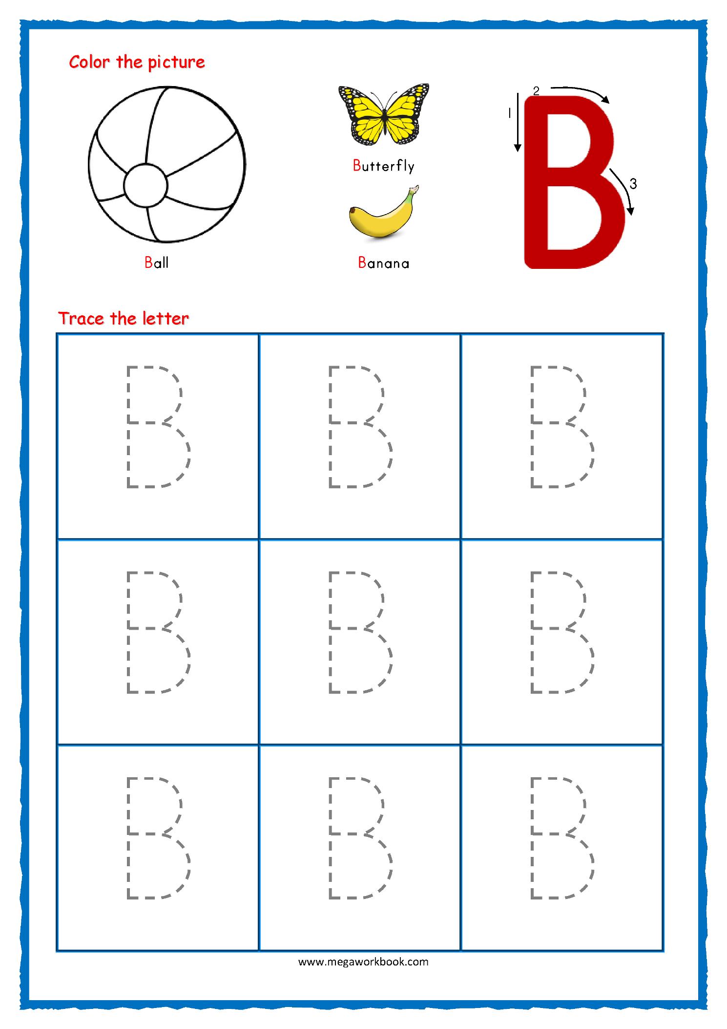 Tracing Letters Worksheets For Kindergarten