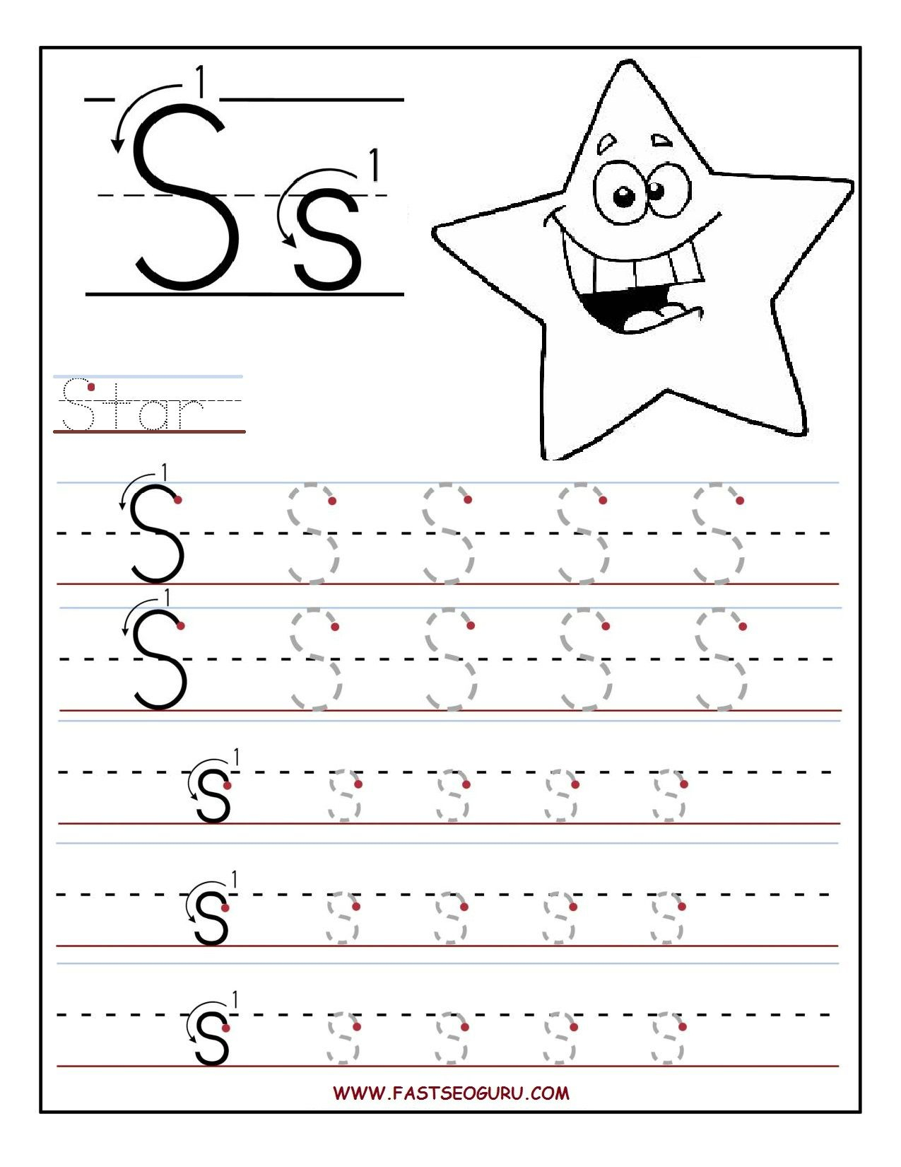 Printable Tracing Letters For Toddlers