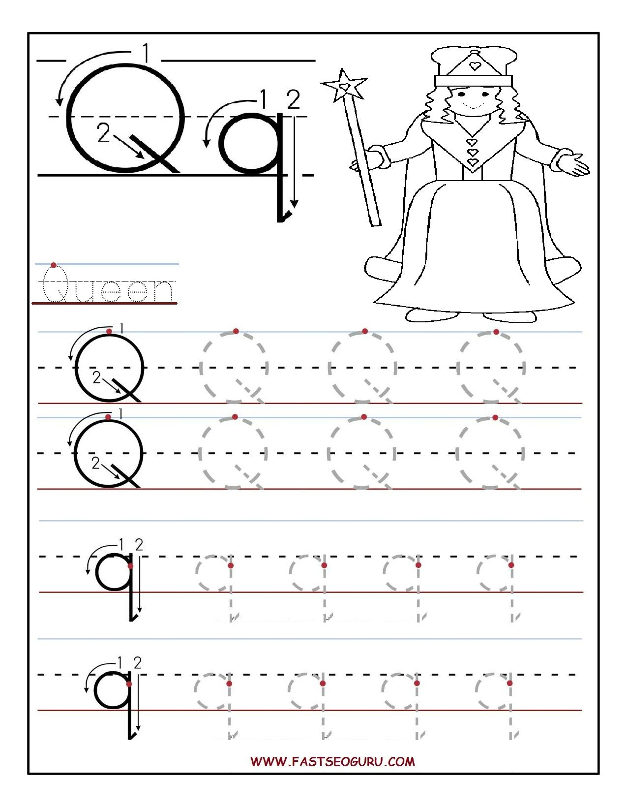 Letter Tracing Worksheets Australia