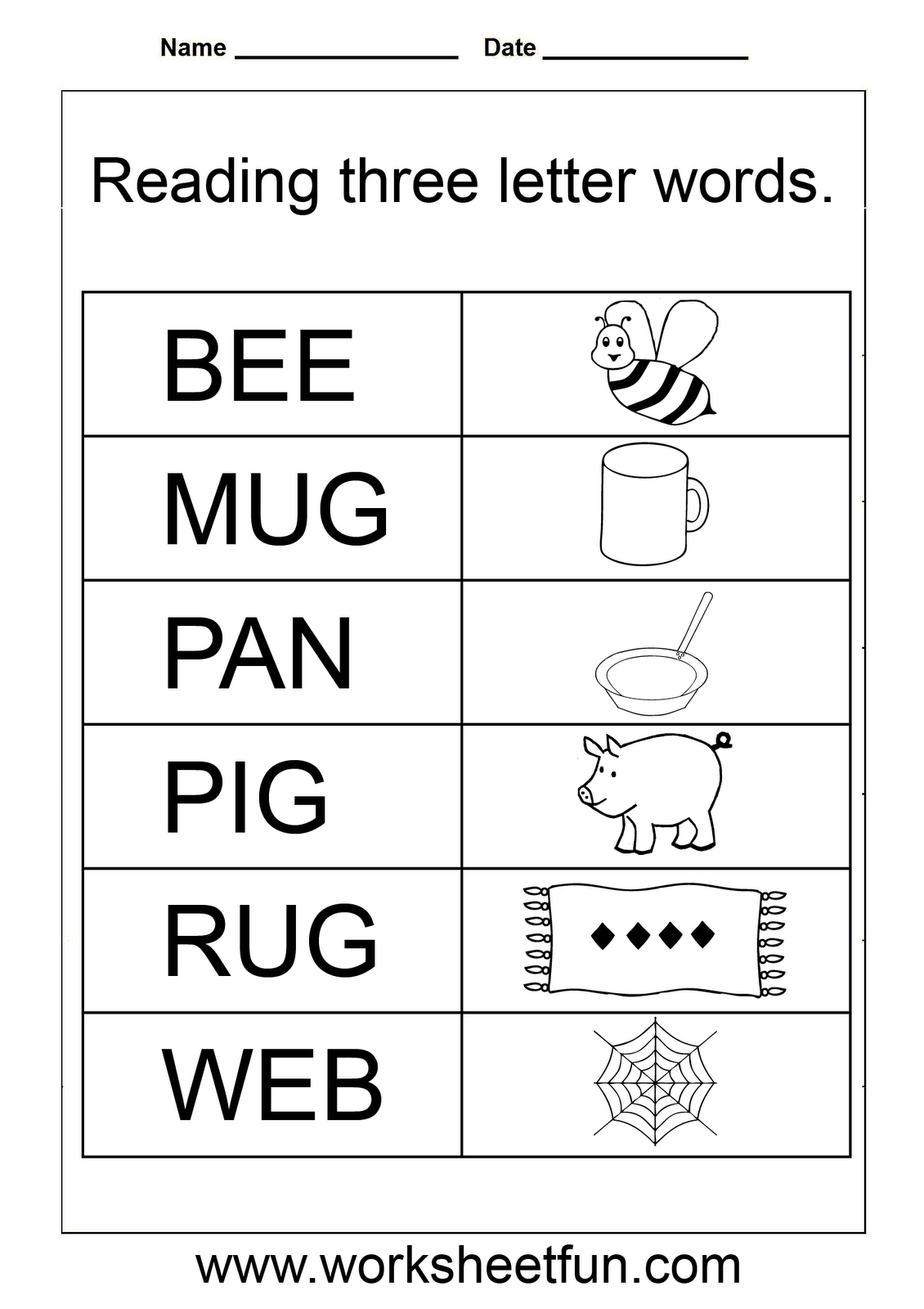Tracing Letters And Words Worksheets