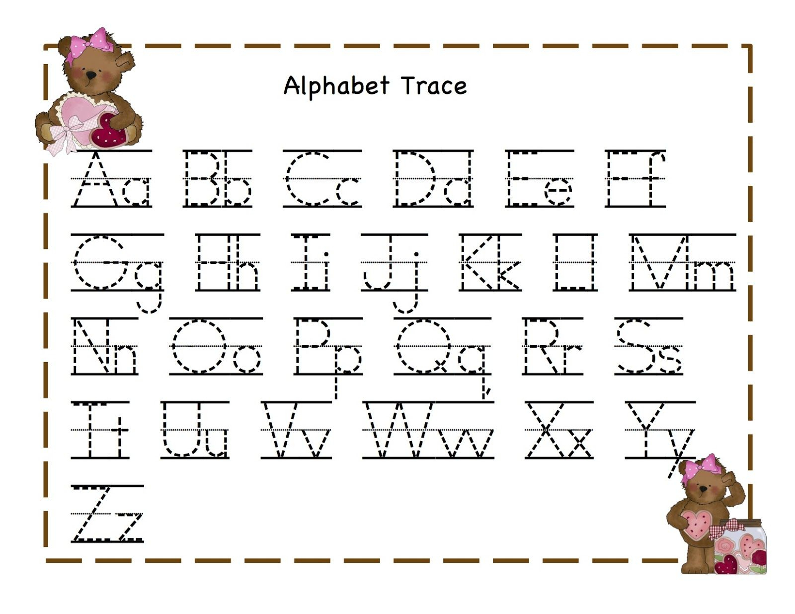 Tracing Letters For 4 Year Olds