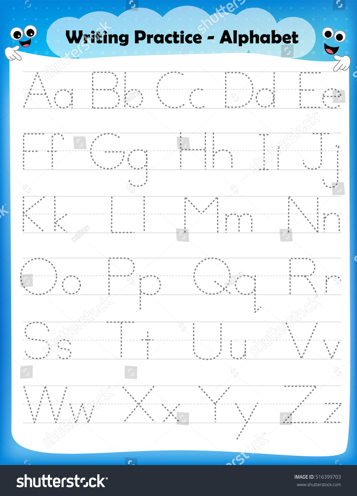 Practice Tracing Alphabet Letters