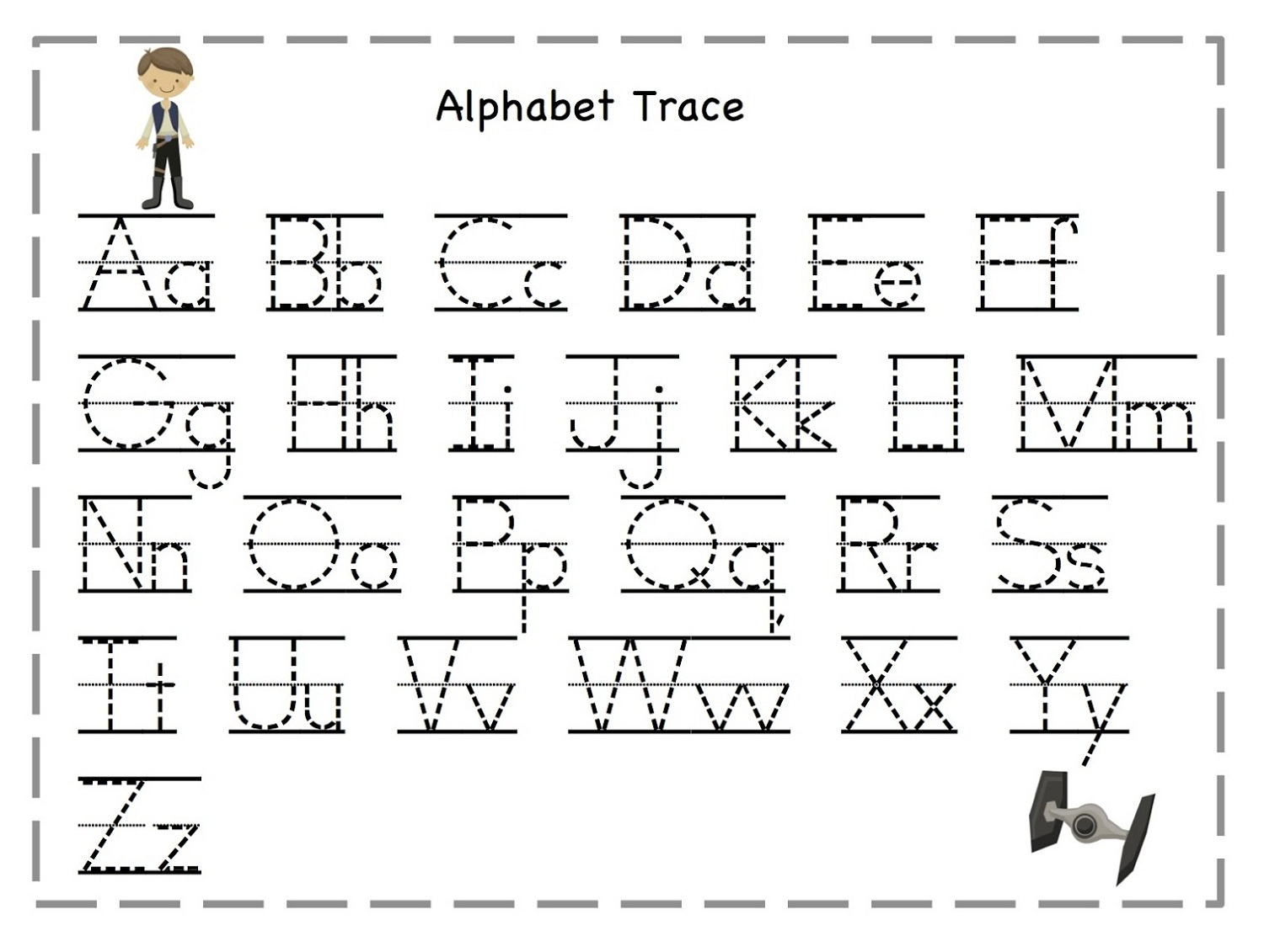 Tracing Of Letters Worksheets