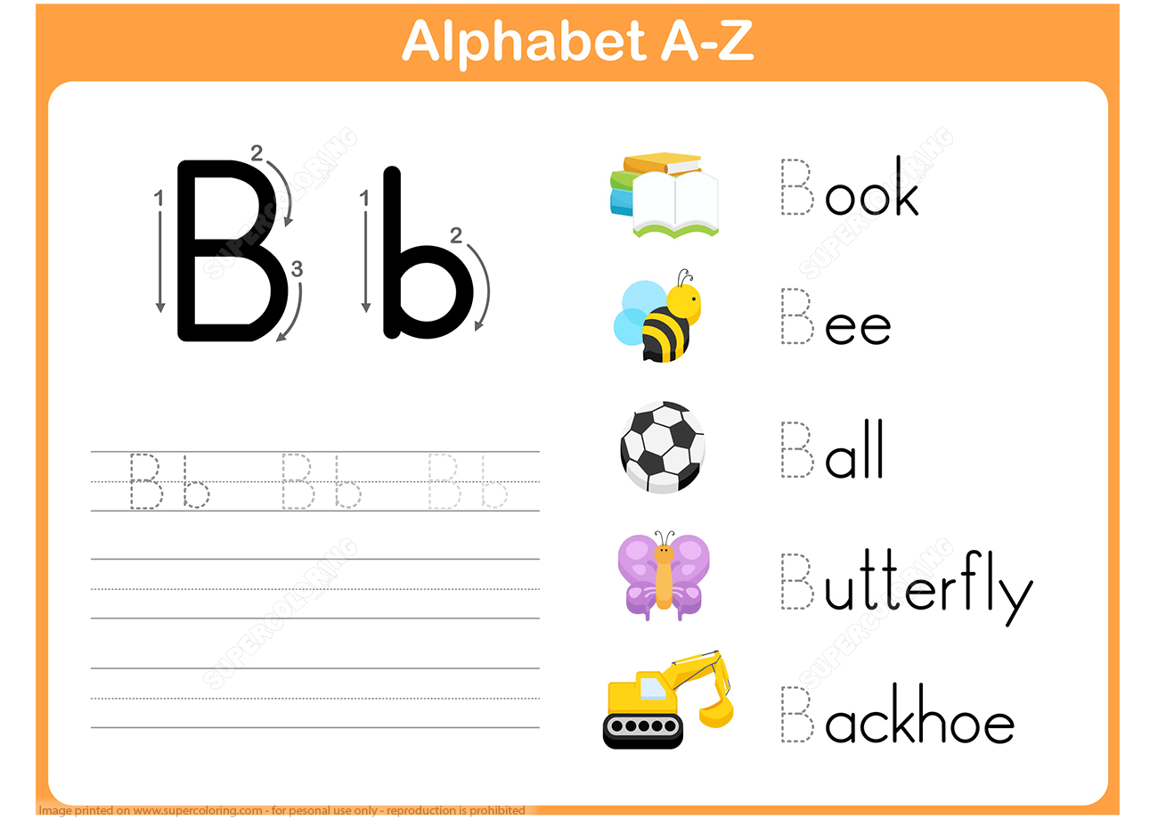 Letter B Tracing Worksheets Free