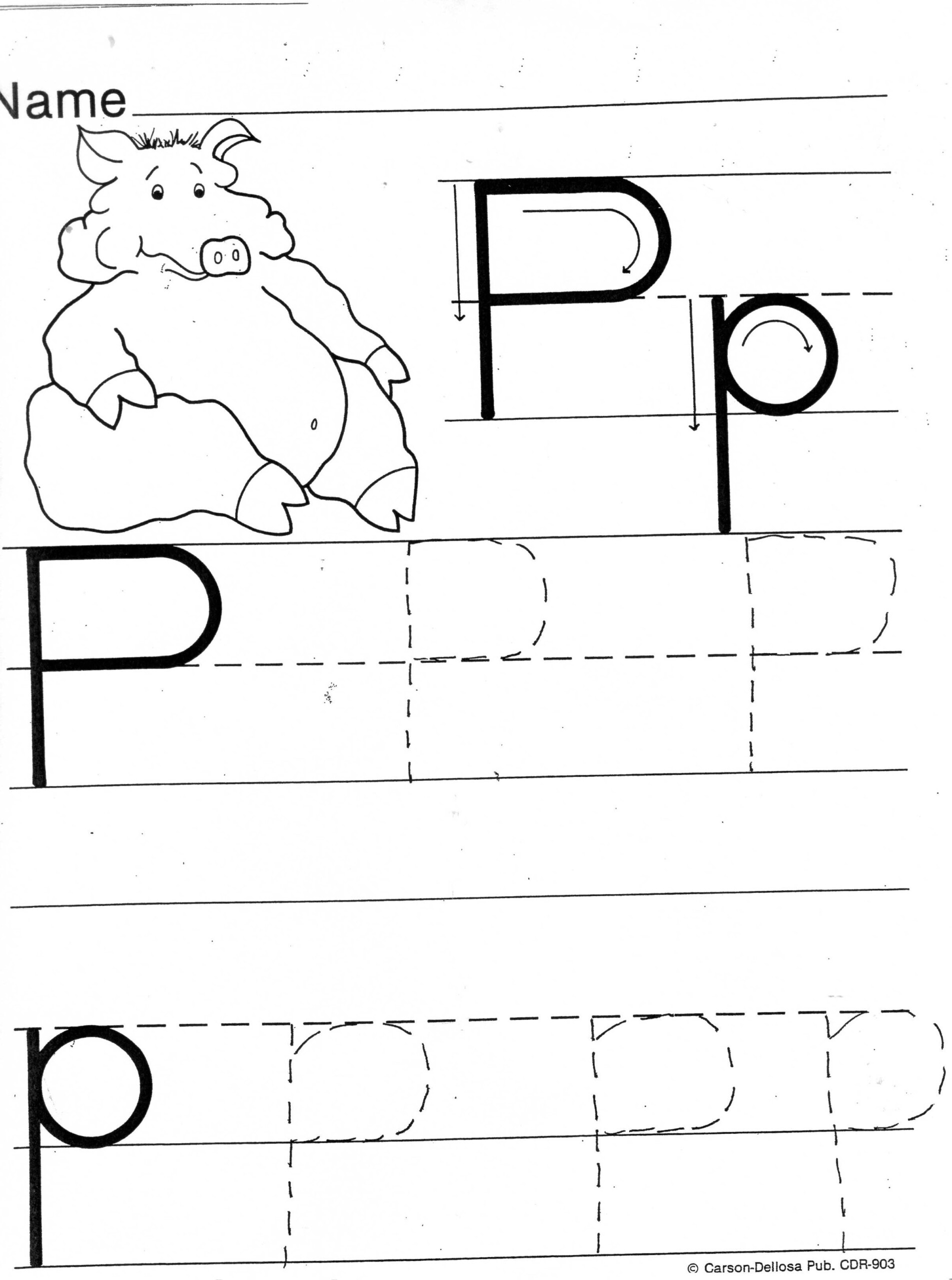 Letter P Tracing Printable