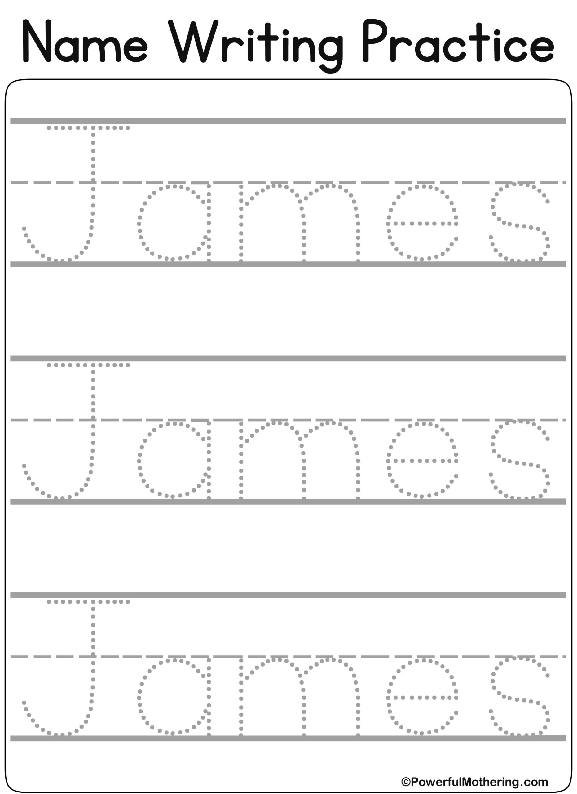 Name Tracing Bubble Letters