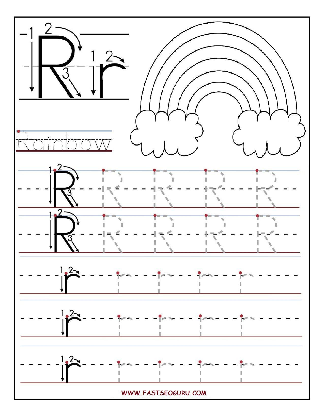 Letter R Tracing Preschool