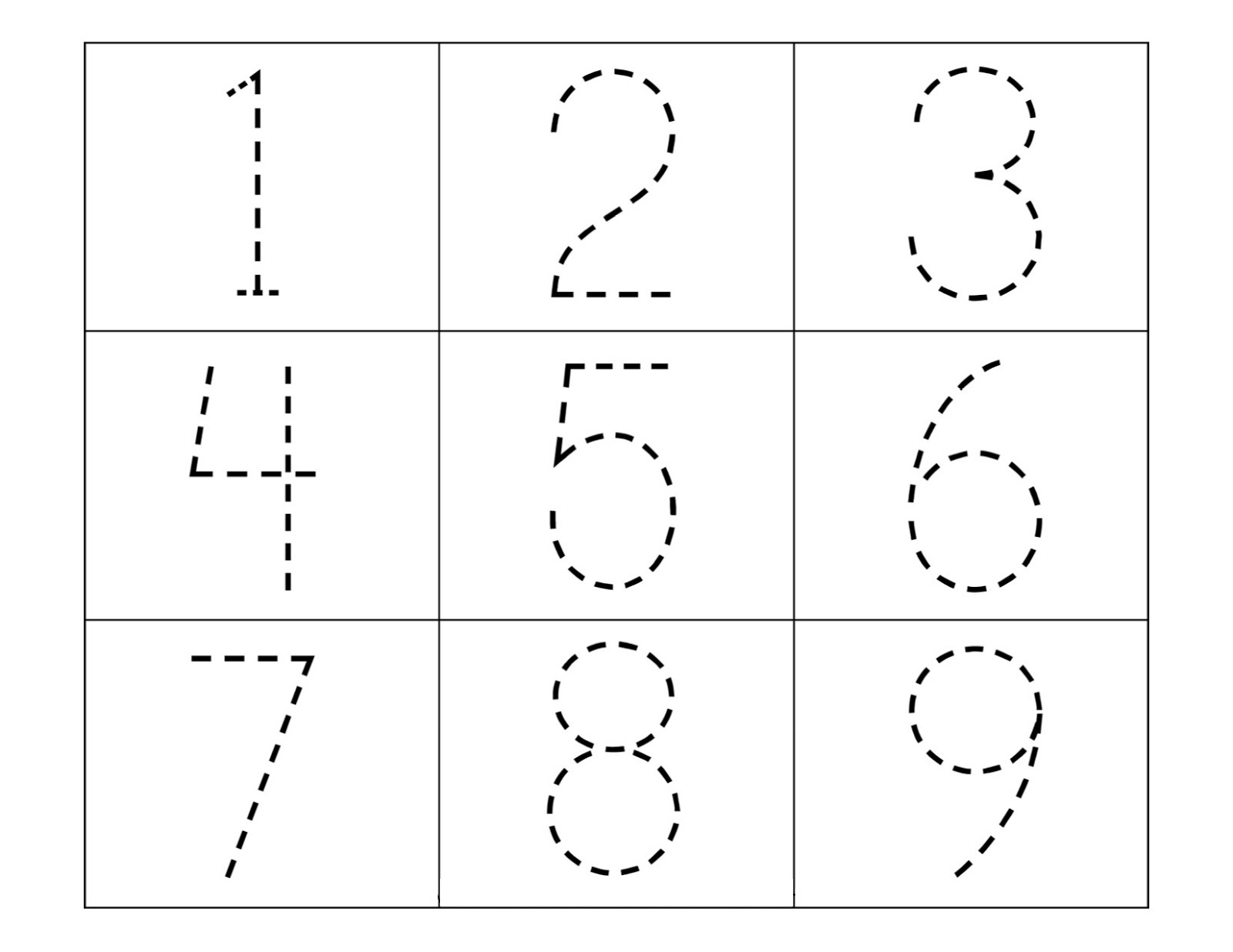 Tracing Numbers Font