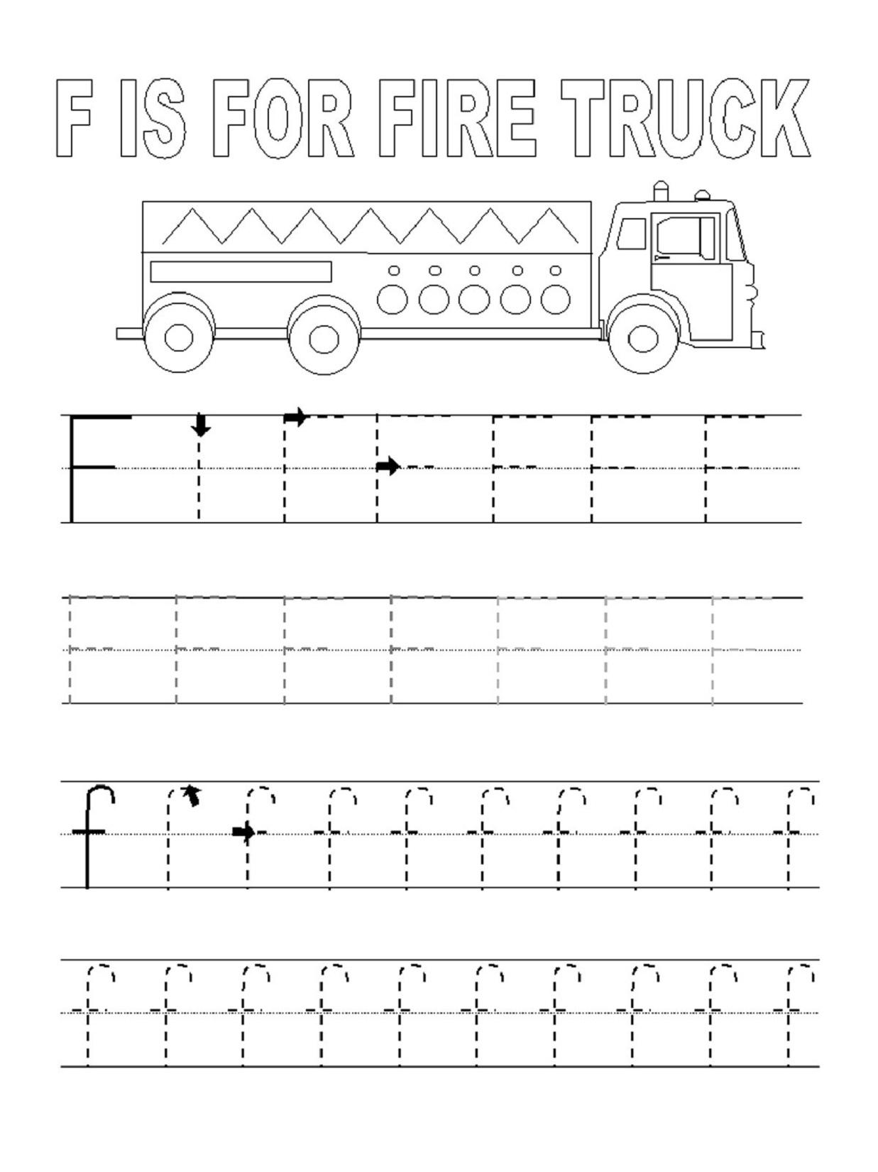 Letter F Tracing Printable