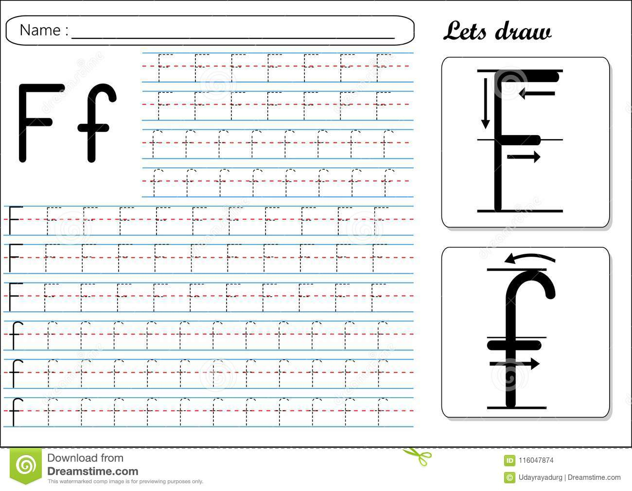 F Letter Tracing