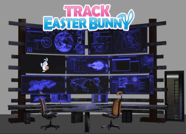 Track Easter Bunny Headquarters