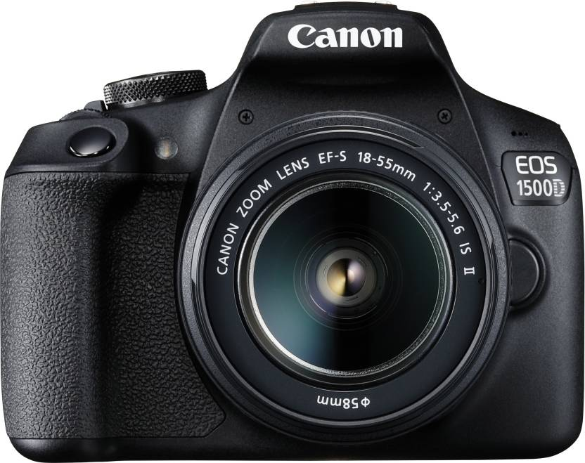 Canon EOS 1500D DSLR Camera Single Kit with 18-55 lens (16 GB Memory Card & Carry Case) (Black)