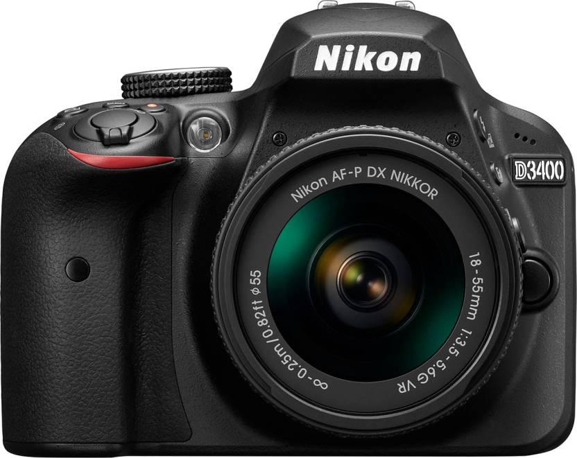 02843326b10 Nikon D3400 DSLR Camera Body with Single Lens  AF-P DX NIKKOR 18-