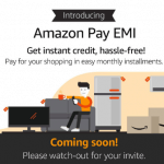 Amazon Pay EMI- card-less credit