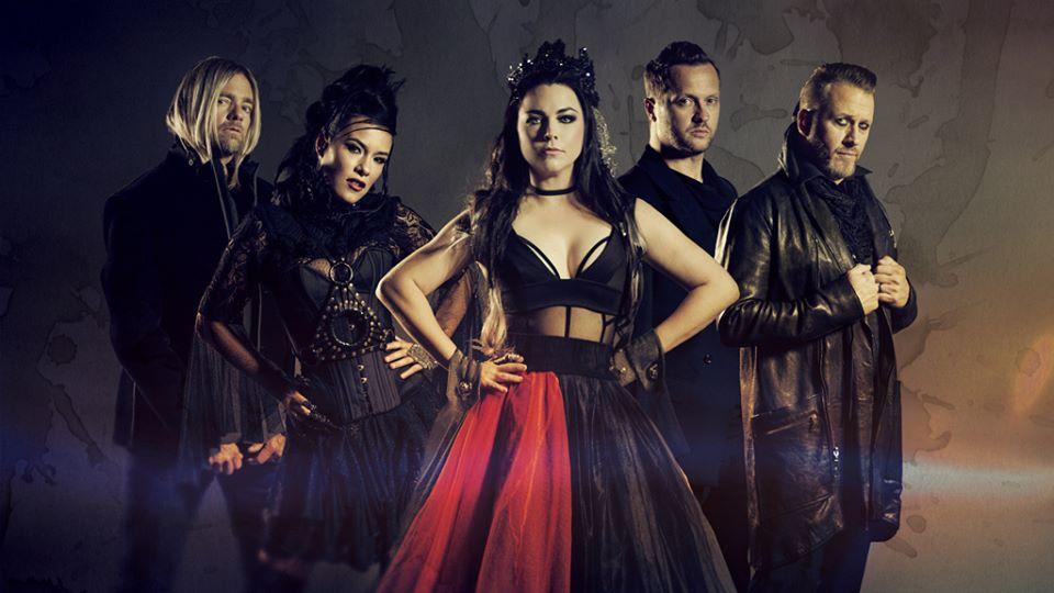 A banda Evanescence, posando para divulgação da Turnê