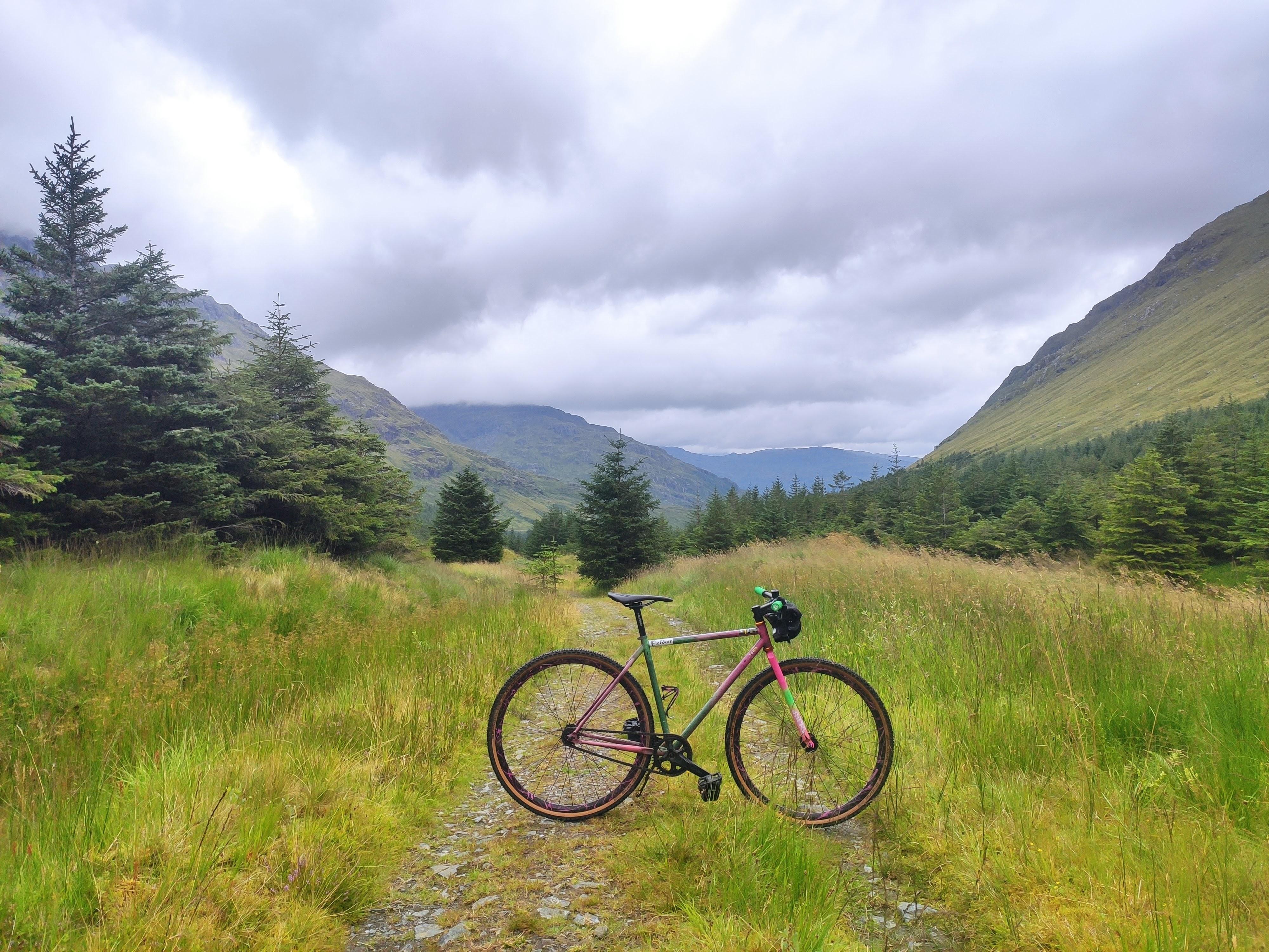 squid so-ez tracklocross bike in the scottish highlands